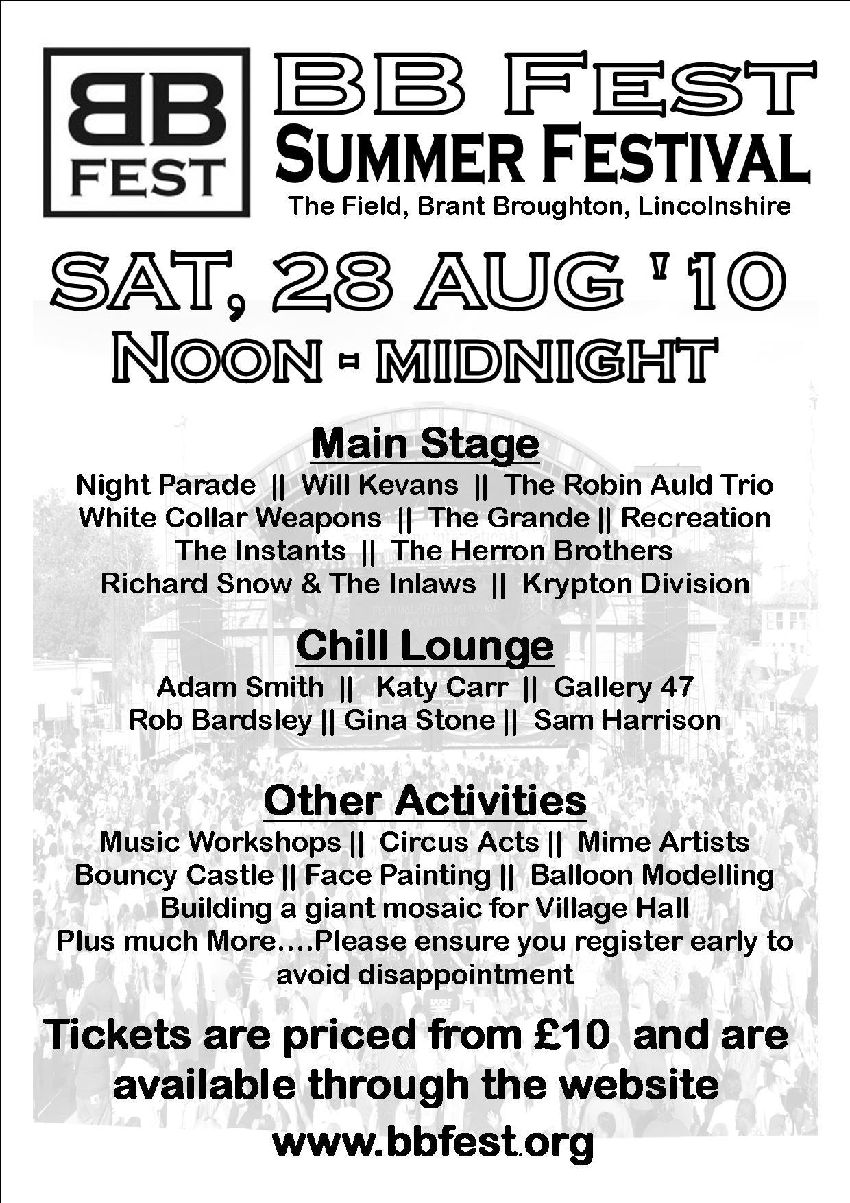 Katy Carr plays BB Fest 9PM 28th Aug 2010
