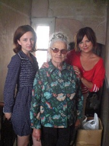 Regina Chmurska, a Polish dress maker who survived World War II with her two Granddaughters