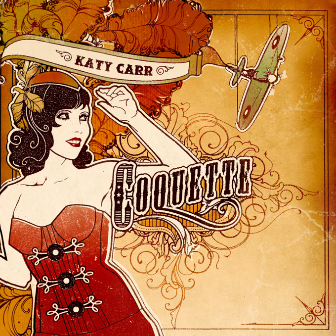 Katy Carr's third album Coquette Front Cover