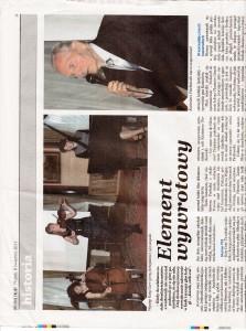 Dziennik Polski Polish Daily News 8th April 01 2011