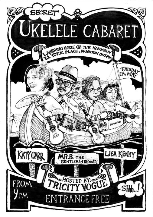 Ukelele Cabaret Goes To The Seaside - FREE! - Tuesday 17 May KATY CARR PERFORMS WITH UK'S HOT UKULELE PLAYERS