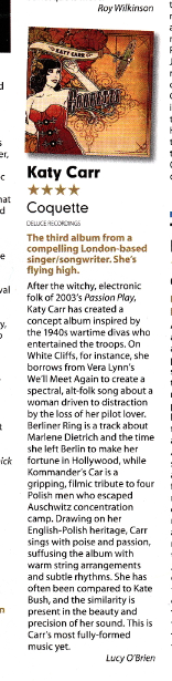 Coquette - Mojo review of Coquette by Lucy o brien 4:5