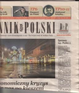 Dziennik Polski Dec 2012 Article