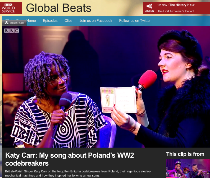 Katy Carr: My song about Poland's WW2 codebreakers