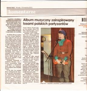 Dziennik Polski  April 2012 Article