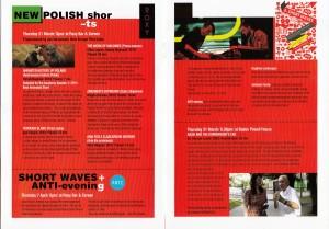 Kinoteka 9th Polish Film Festival leaflet March 2011