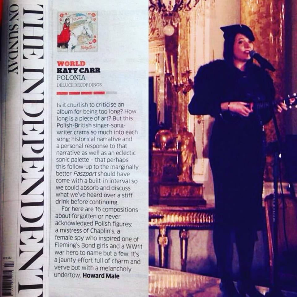 Katy Carr 4 star review Independent