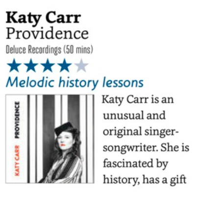 Katy Carr 4 **** review Providence SONGLINES