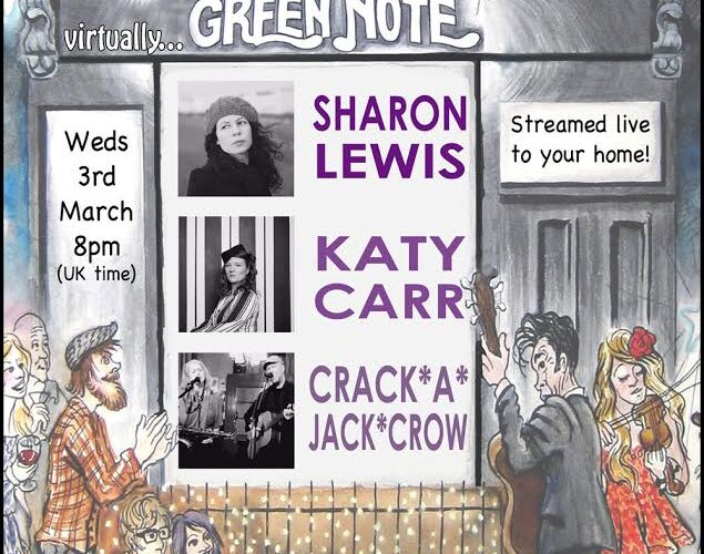 Katy Carr performs at the Green Note 3rd March 2021